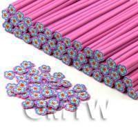 Handmade Pink Flower Cane - Nail Art (CNC02)
