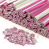 Handmade Pink Leaf Cane - Nail Art (CNC05)