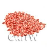 50 Red Flower Cane Slices - Nail Art (CNS06)