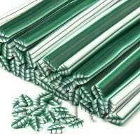 Handmade Green Leaf Cane - Nail Art (CNC10)