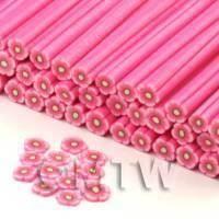 Handmade Pink Flower Cane - Nail Art (CNC12)