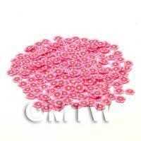 50 Pink Flower Cane Slices - Nail Art (CNS12)