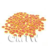 50 Pink Grapefruit Nail Art Cane Slices - Nail Art (CNS14)