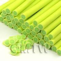 Handmade Green Lemon Cane - Nail Art (CNC32)