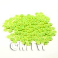 50 Green Lemon Nail Art Cane Slices - Nail Art (CNS32)