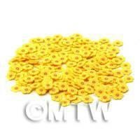 50 Yellow Flower Cane Slices - Nail Art (CNS15)