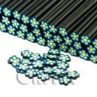 Handmade Blue Flower Cane - Nail Art (CNC19)