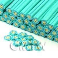 Handmade Pale Blue Flower Cane - Nail Art (CNC20)