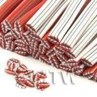 Handmade Red Leaf  Cane - Nail Art (CNC23)