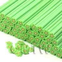 1/12th scale 1 Green Flower Cane - Nail Art (CNC24)
