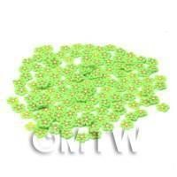 50 Green Flower Cane Slices - Nail Art (CNS24)