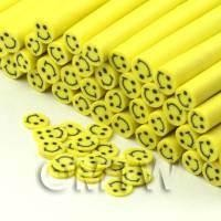 Handmade Yellow Smiley Face Cane - Nail Art (CNC29)