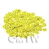 50 Yellow Smiley Face Cane Slices - Nail Art (CNS29)