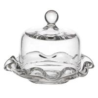 Dolls House Miniature Handmade Tiny Glass Cake Stand with Rounded Top