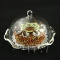 Miniature Glass Cake Stand (A) and KIWI Cake set