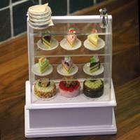 Dolls House Miniature Stocked Cake Display Counter