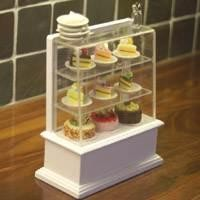 Miniature Stocked Cake Display Counter