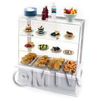 Dolls House Miniature Fully Loaded Cafe Style Counter