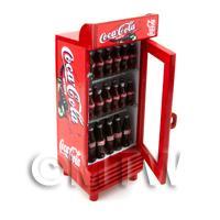 Dolls House Miniature Single Coca Cola Fridge / Cooler