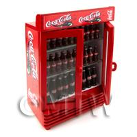 Dolls House Miniature Double Coca Cola Fridge / Cooler