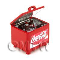 Dolls House Miniature Filled Coke Drinks Cooler
