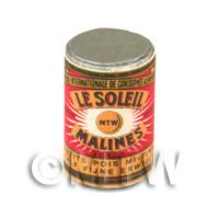 Dolls House Miniature Le Soleil Semi Fine Garden Peas Can (1890s)