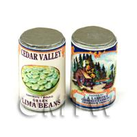 Dolls House Miniature J. J. Lassiter Lima Beans Can (1920s)