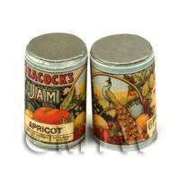 Dolls House Miniature Peacocks Apricot Jam Can (1890s)