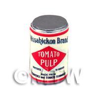 Dolls House Miniature Wassahickon Tomato Pulp Can (1920s)