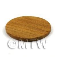 Dolls House Miniature 33mm Round Teak Wooden Chopping Board