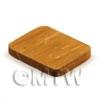 Dolls House Miniature 36mm Rectangular Teak Wooden Chopping Board