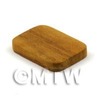 Dolls House Miniature 30mm Rectangular Teak Wooden Chopping Board