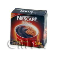 Dolls House Miniature Box of Nescafe Coffee