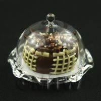 Miniature Glass Cake Stand (C) and Chocolate Lattice Cake set