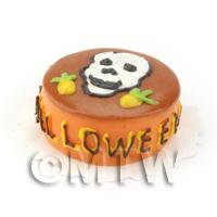 Dolls House Miniature Novelty Halloween Cake Skull Design