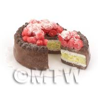 Dolls House Miniature Strawberry Topped Cake