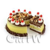 Dolls House Miniature Chocolate Lemon Cake
