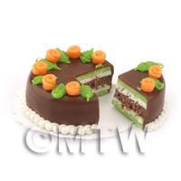 Dolls House Miniature Chocolate Lime Cake
