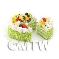 Dolls House Miniature Tropical Fruit Cake