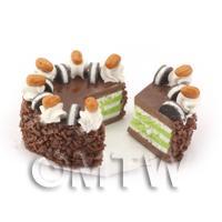 Dolls House Miniature Chocolate Oreo Cake