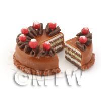 Dolls House Miniature Chocolate Sponge Cake