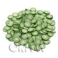 50 Handmade Lime Nail Art Cane Slices (NS30)