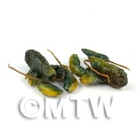 1/12th scale - Dolls House Miniature Pair Of Dark Green  Lobsters