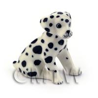 Dolls House Miniature Little Sitting Dalmatian