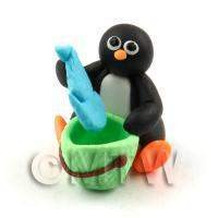 Dolls House Miniature Fun Penguin Figurine (1)