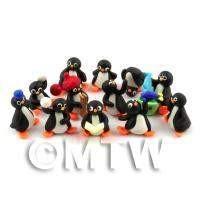 Fun Penguin Figurine Set Of 12