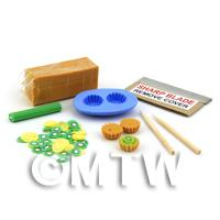 Dolls House Miniature Kiwi Tart Kit With Silicone Mould