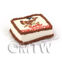 Dolls House Miniature Thanksgiving Cake