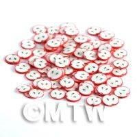 1/12th scale 50 Fimo Red Apple Nail Art Cane Slices (NS80)