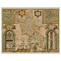 Dolls House Miniature John Speed Aged Buckinghamshire Map